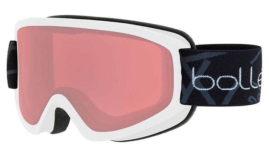 Bolle Freeze Ski Goggles - Matte White / Vermillon