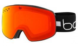 Bolle Nevada Ski Goggles - Matte Black Line / Fire Red Photochromic