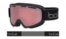 Bolle Freeze Plus Ski Goggles - Matte Black / Vermillon Gun