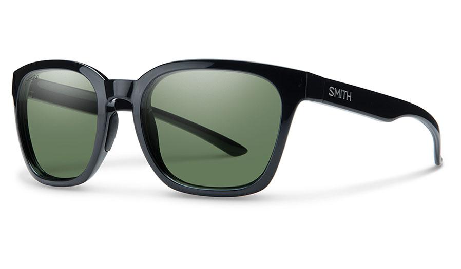 Smith Founder Sunglasses - Black / ChromaPop Grey Green Polarised
