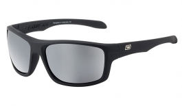 Dirty Dog Axle Sunglasses - Satin Black / Grey Polarised w/Silver Mirror