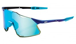 100% Hypercraft Sunglasses - Matte Metallic Into the Fade / Blue Topaz Multilayer Mirror + Clear