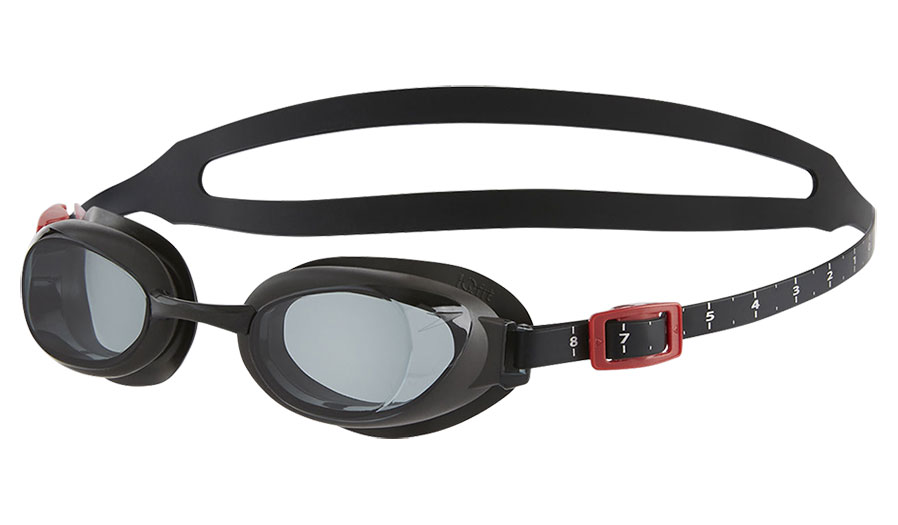 efb4fd156f Speedo Aquapure Prescription Swimming Goggles - Black   Grey Smoke ...