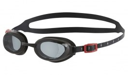 Speedo Aquapure Prescription Swimming Goggles - Black / Grey Smoke