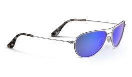 Maui Jim Baby Beach Sunglasses - Silver / Blue Hawaii Polarised