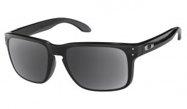 Oakley Holbrook Prescription Sunglasses - Polished Black (Silver Icon)