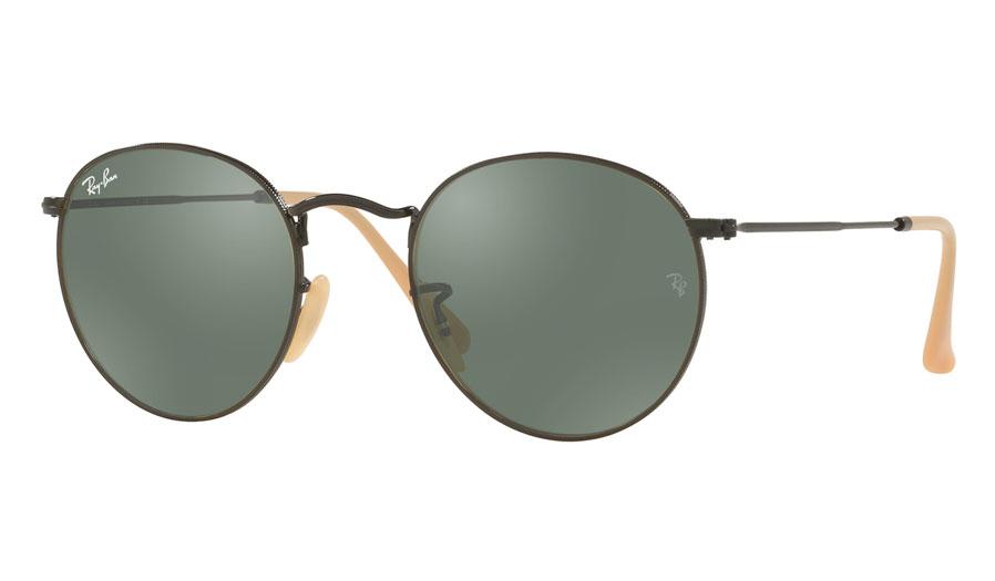 ab18dbbc5c Ray-Ban RB3447 Round Metal Prescription Sunglasses - Matte Black ...