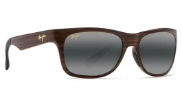 Maui Jim Kahi Prescription Sunglasses - Matte Brown Wood Grain