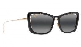Maui Jim Adrift Prescription Sunglasses - Gloss Black & Shiny Gold