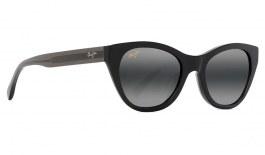 Maui Jim Capri Prescription Sunglasses - Black with Transparent Dark Grey