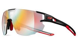 Julbo Aerospeed Prescription Sunglasses - Clip-On Insert - Black & Red / Reactiv Performance 1-3 Red Flash Photochromic