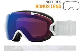 Smith Optics I/OS Ski Goggles - White Vapor / ChromaPop Photochromic Rose Flash + ChromaPop Sun Black