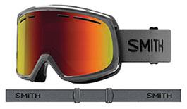 Smith Optics Range Prescription Ski Goggles - Charcoal / Red Sol-X Mirror