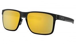 Oakley Holbrook Metal Sunglasses - Midnight Collection Polished Black / Prizm 24K Polarised