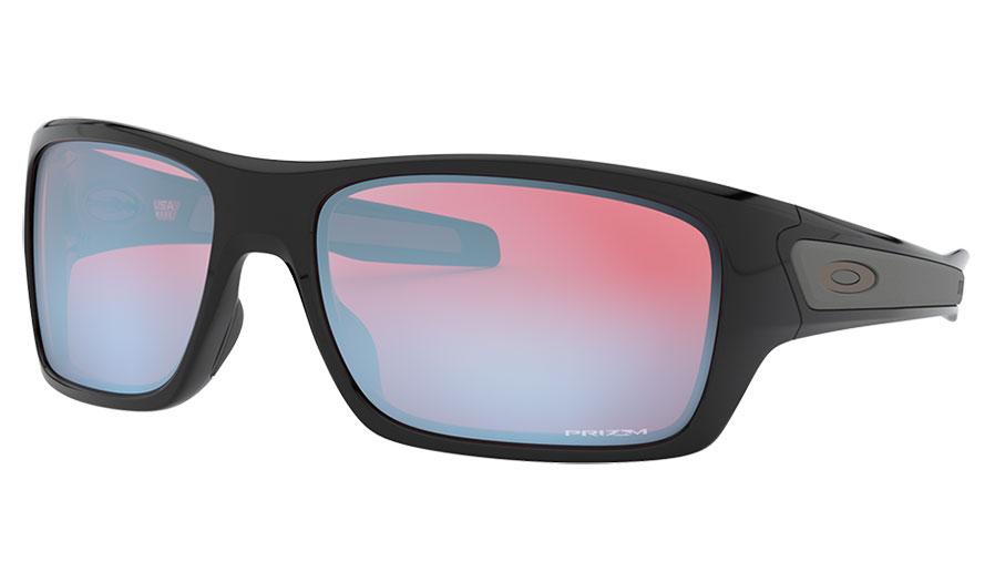 Oakley Turbine Sunglasses - Polished Black / Prizm Snow Sapphire