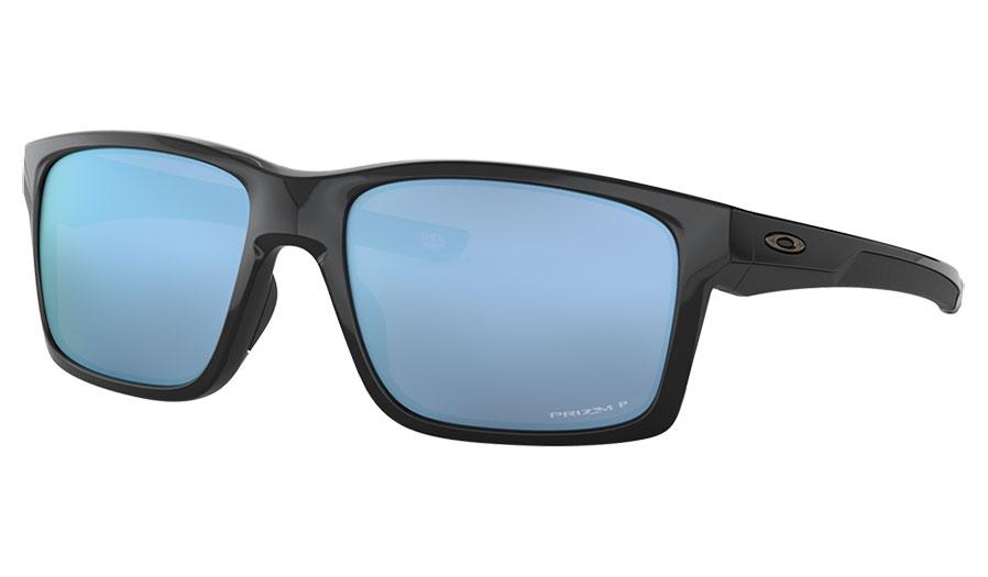 Oakley Mainlink XL Sunglasses - Polished Black / Prizm Deep Water Polarised
