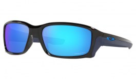 Oakley Straightlink Sunglasses - Polished Black / Prizm Sapphire