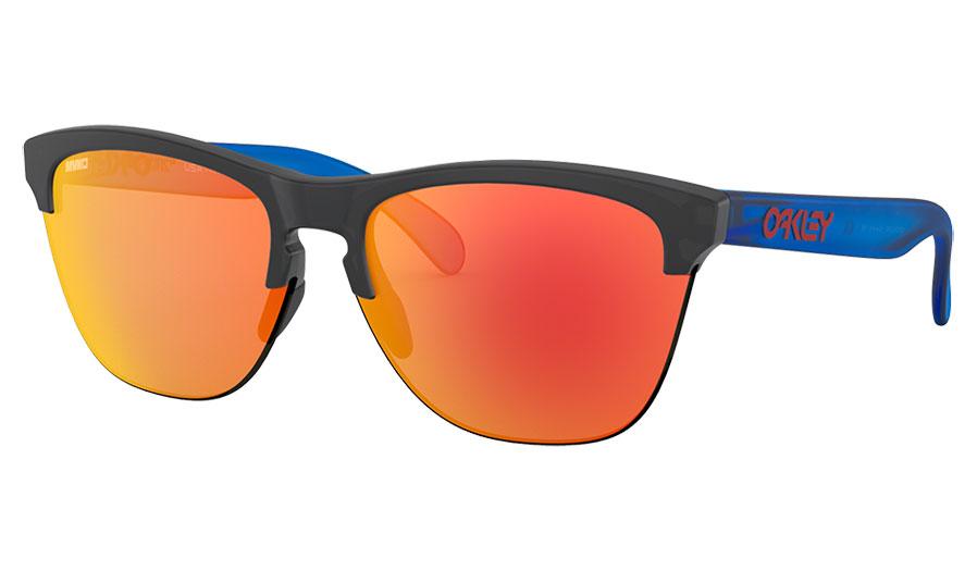 Oakley Frogskins Lite Sunglasses - Maverick Vinales Signature Series Matte Crystal Black / Prizm Ruby
