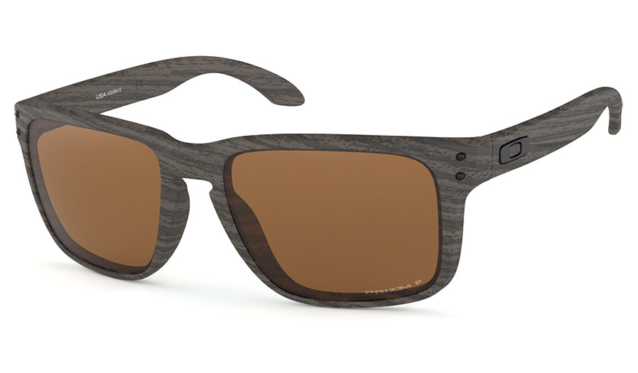 8acae4ea667 Oakley Holbrook XL Sunglasses - Woodgrain   Prizm Tungsten Polarised ...