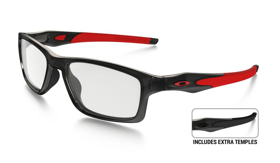 f1f39abd63 Oakley Crosslink MNP Prescription Glasses. Frame  Polished Black Ink