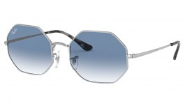Ray-Ban RB1972 Octagon Sunglasses - Silver / Blue Gradient
