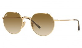 Ray-Ban RB3565 Jack Sunglasses - Gold / Light Brown Gradient