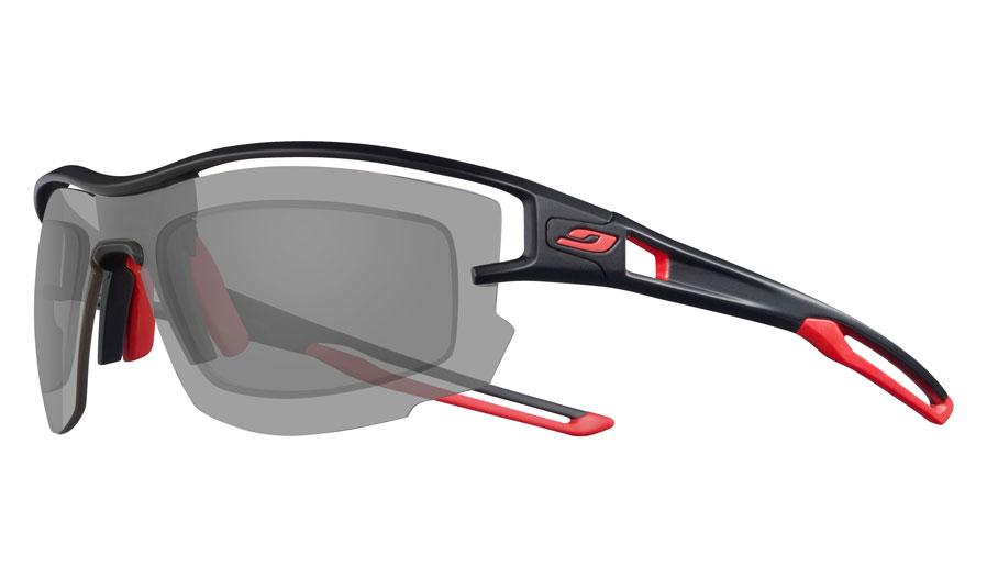 Julbo Aero Prescription Sunglasses - Directly Glazed - Matte Black & Red