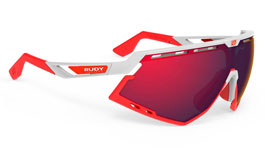 Rudy Project Defender Prescription Sunglasses - Clip-On Insert - Gloss White & Fluo Red / Multilaser Red