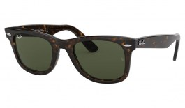 Ray-Ban RB2140 Original Wayfarer Sunglasses - Tortoise / Green (G-15)