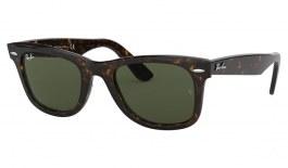 Ray-Ban RB2140 Original Wayfarer Sunglasses - Tortoise / Green