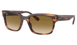 Ray-Ban RB2190 Jeffrey Sunglasses - Striped Havana / Light Brown Gradient