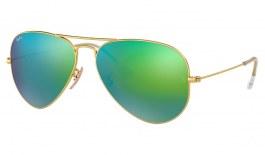 Ray-Ban RB3025 Aviator Sunglasses - Matte Gold / Green Flash