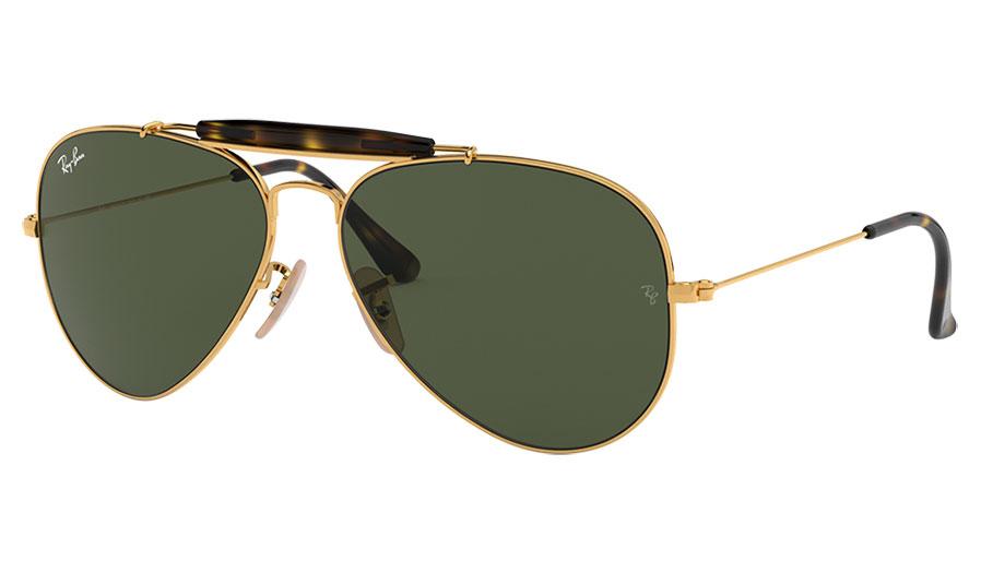 Ray-Ban RB3029 Outdoorsman II Sunglasses - Gold / Green