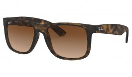 Ray-Ban RB4165 Justin Sunglasses - Havana Rubber / Brown Gradient