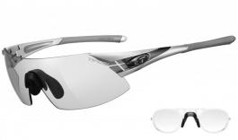 Tifosi Podium XC Prescription Sunglasses - Clip-On Insert - Silver & Gunmetal / Light Night Fototec