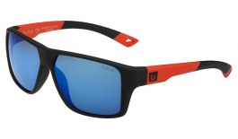 Bolle Brecken Floatable Sunglasses - Black & Red / Offshore Blue HD Polarised