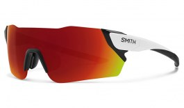 Smith Attack Sunglasses - Matte White / ChromaPop Sun Red Mirror + ChromaPop Contrast Rose