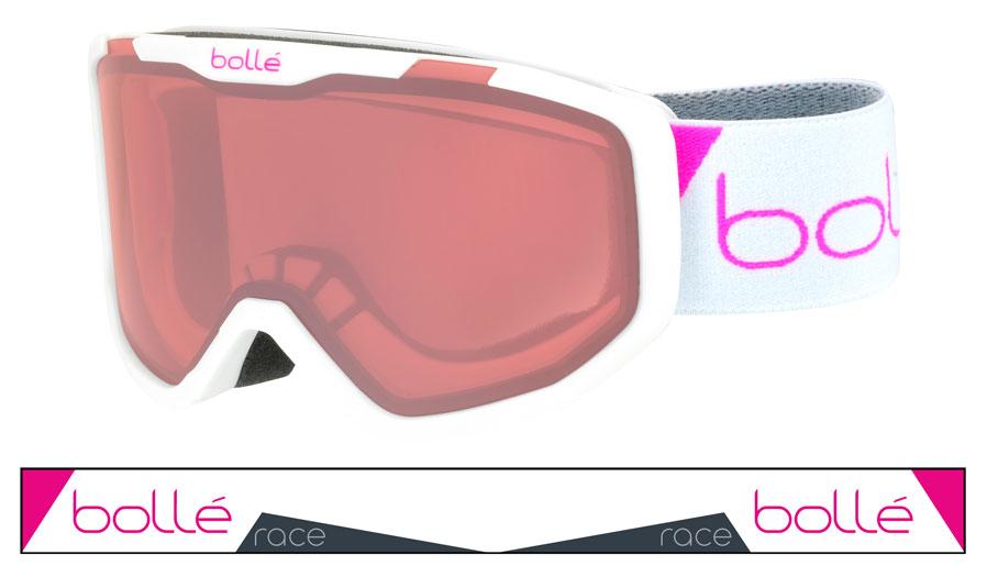 7b3283c49f Bolle Rocket Ski Goggles - Matte White Race   Vermillon