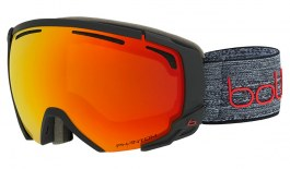 Bolle Supreme OTG Ski Goggles - Matte Dark Grey & Red / NXT Phantom Fire Red Photochromic