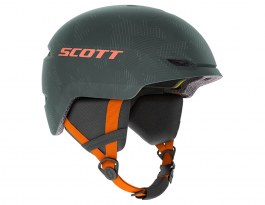 Scott Keeper 2 Plus MIPS Junior Ski Helmet - Sombre Green & Pumpkin Orange