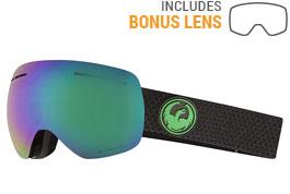 Dragon X1S Ski Goggles - Split / LumaLens Green Ion + LumaLens Amber