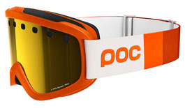 POC Iris Stripes Prescription Ski Goggles - Zink Orange / Pink Gold Mirror