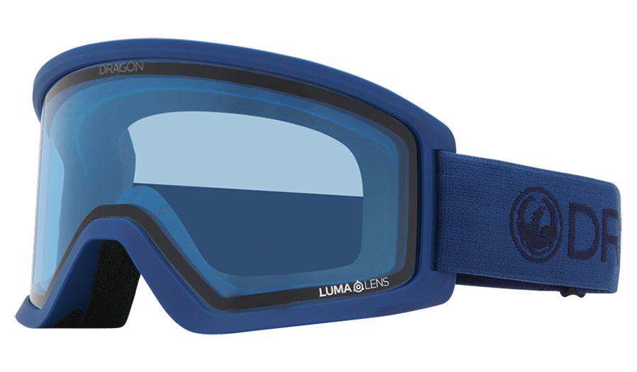 Dragon DX3 OTG Ski Goggles - Light Navy / Lumalens Blue + Lumalens Dark Smoke