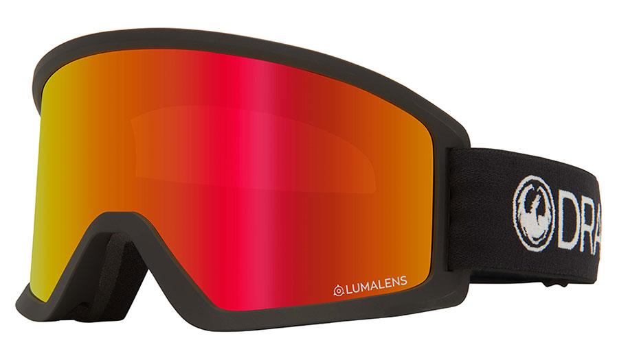Dragon DX3 OTG Ski Goggles - Black / Lumalens Red Ion + Lumalens Amber
