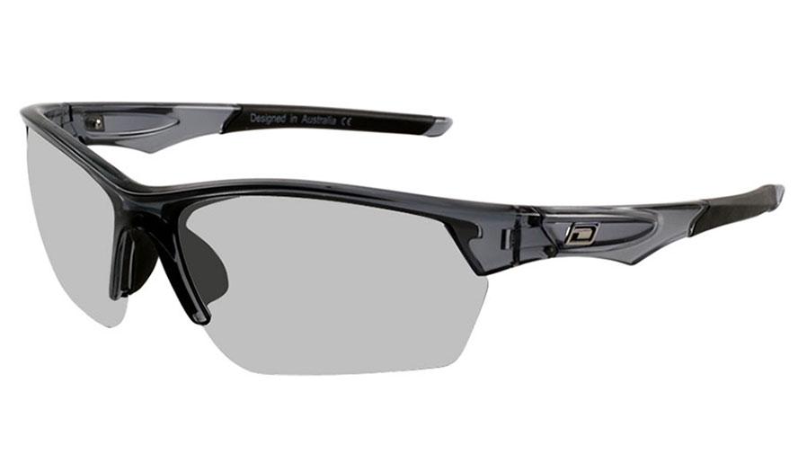 Dirty Dog Sport Track Sunglasses - Crystal Black / Grey Photochromic