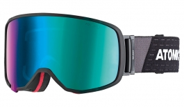 Atomic Revent L OTG Ski Goggles - Black / Green Stereo HD