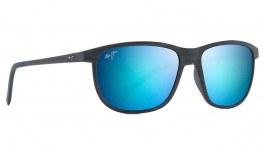 Maui Jim Dragon's Teeth Sunglasses - Dark Navy Stripe / Blue Hawaii Polarised