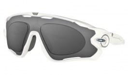 Oakley Jawbreaker Prescription Sunglasses - Polished White (Anodised Blue Icon)