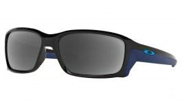 Oakley Straightlink Prescription Sunglasses - Polished Black (Sky Blue Icon)