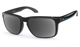 Oakley Holbrook XL Prescription Sunglasses - Polished Black (Blue Icon)